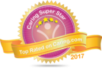 Top Rated on Caringcom Logo