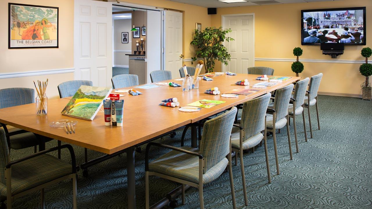 Belmont Village Rancho Palos Verdes Activity Room