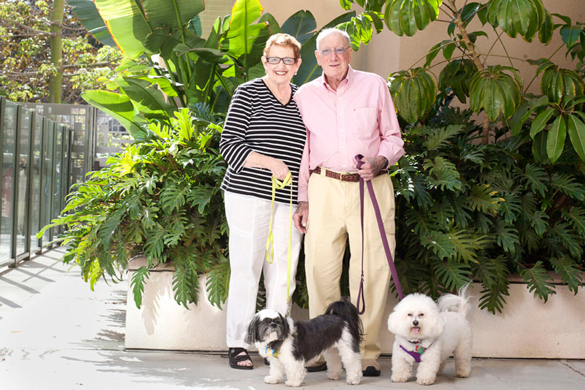 Belmont Village Pets Stories Lodges, Bogey and Benny