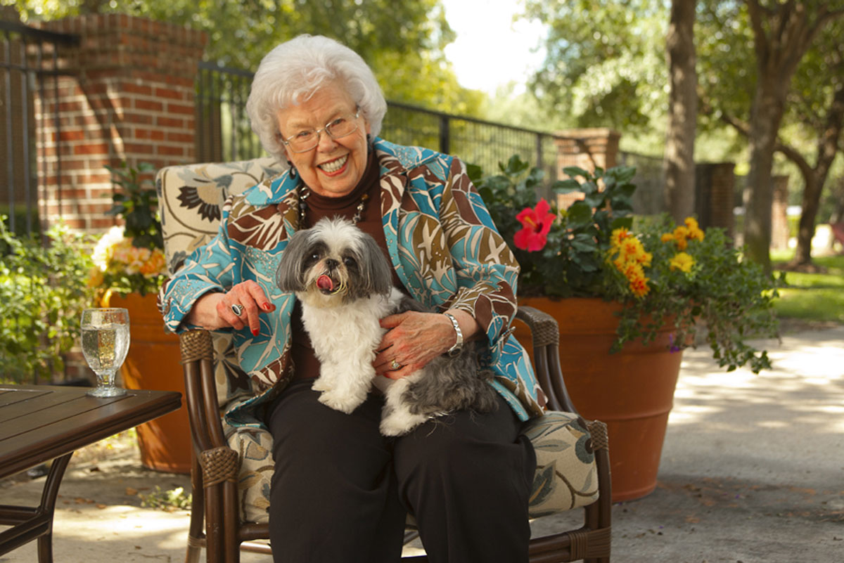 Belmont Village Pets Stories Audrey and Sheba
