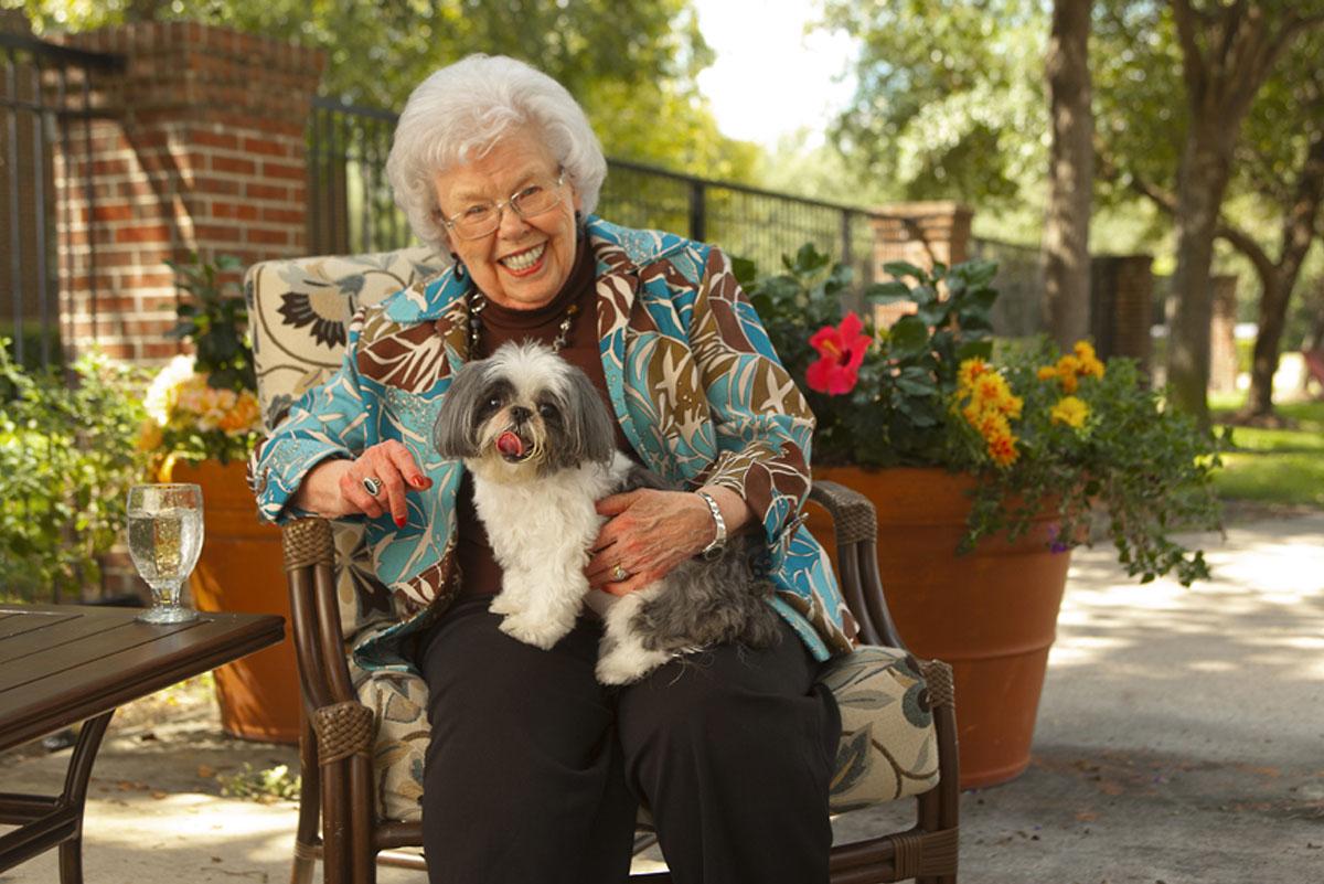 Belmont Village Pets Stories Audrey and Sheba