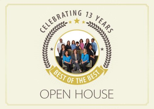 Celebrating 13 Years – Best of the Best – Open House