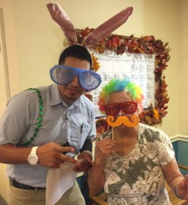 Residents and staff at Belmont Village Burbank