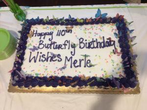 Merle's birthday cake