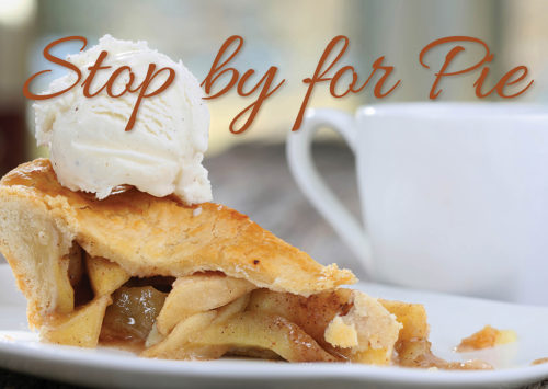 STOP BY FOR PIE – Pie and Coffee Open House