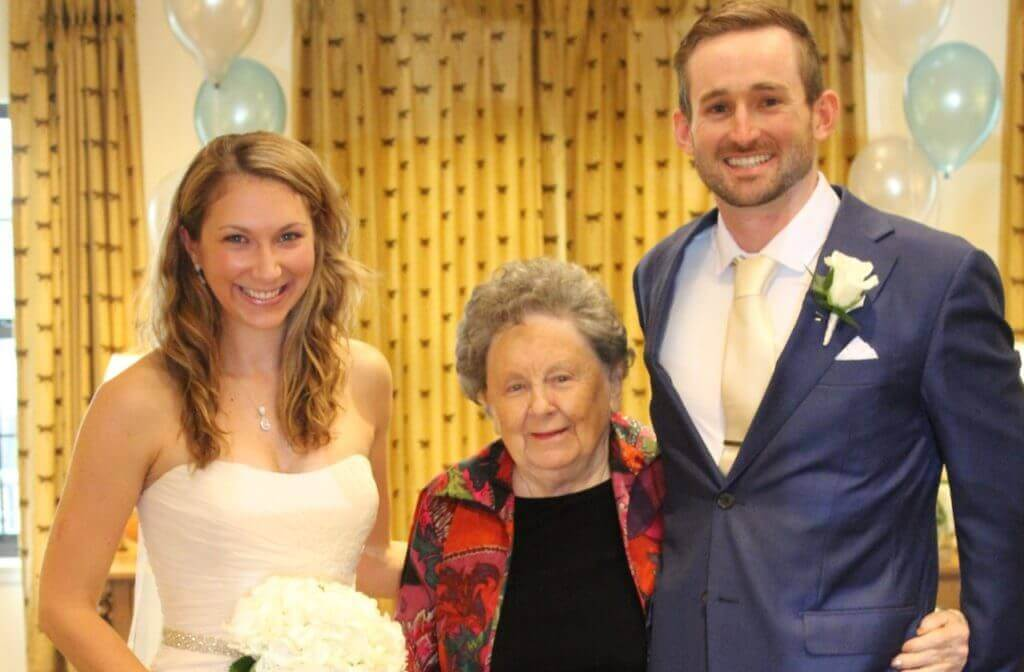 Bride Groom and Grandma Jean