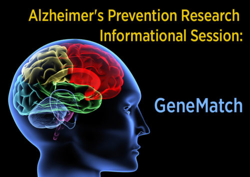 Alzheimer's Prevention Research Informational Session: GeneMatch