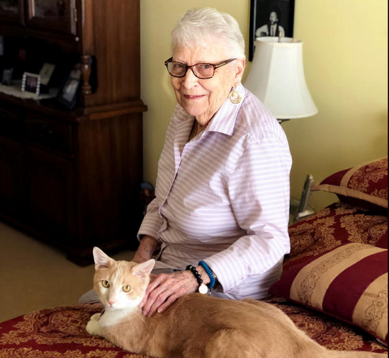 Pets provide residents with comfort as they transition into a senior living community.