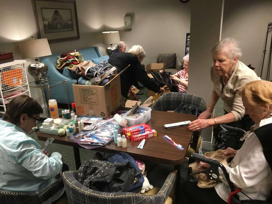 Belmont Village West University residents help women in need