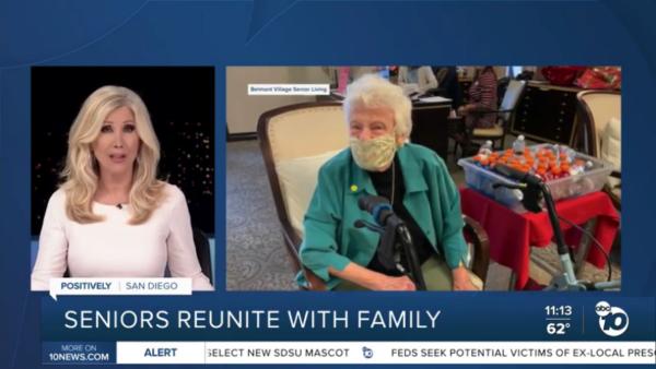 Belmont VillageSeniors Reunite with Family